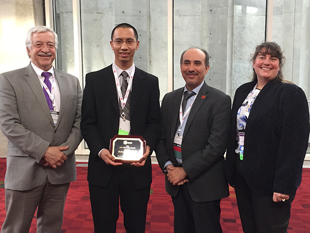 3M Representative Pat Parks, 2016 WHF-3M Fellow Joshua Tam, 2014 Fellow and co-moderator Peter Abadir and WHF President Laura K. S. Parnell