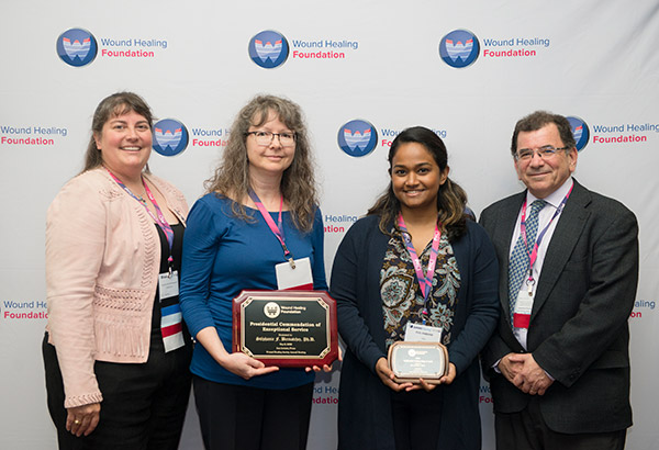 WHF President Laura K. S. Parnell with WHF Presidential Commendation recipient Stéphanie Bernatchez from 3M, 2019 WHF-3M Fellow Piul Rabbani and 3M Representative Matt Cooper