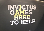 A great banner seen at the Invictus Games in London, September 2014. Photo courtesy of Laura K. S. Parnell