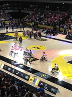 Wheelchair basketball finals with the UK and USA teams at the Invictus Games in London, September 2014. Photo courtesy of Laura K. S. Parnell