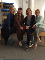 The Danish Wounded Warrior project and the WHF met in Copenhagen, Denmark. Pictured: Jojo, Laura, Jessie and Susan at the Copenhagen Pilates Studio.