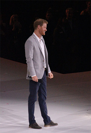 HRH Prince Harry addressing the IG2017 crowd at the closing ceremonies. Photo courtesy of Sarah Sharp