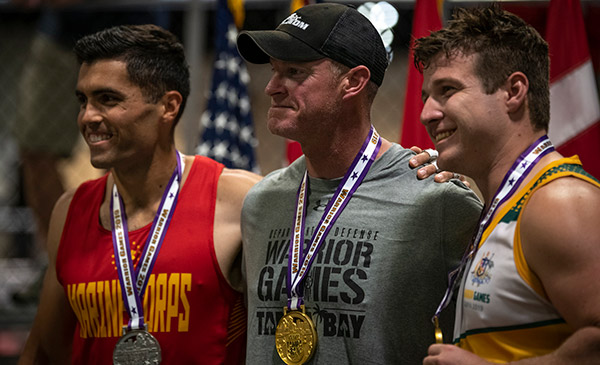 Competition and camaraderie go hand in hand at the Warrior Games
