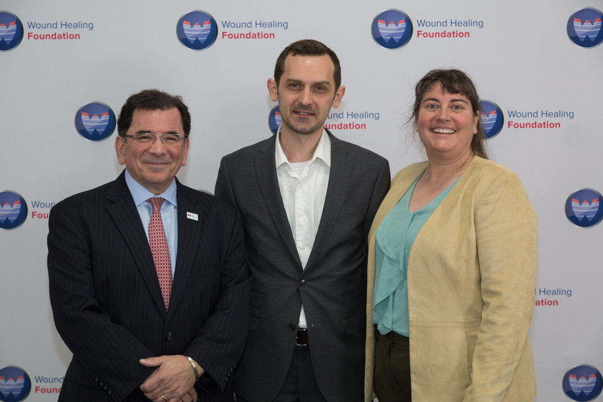 3M representative Matthew Cooper, 2015 Fellow and co-moderator Ivan Jozic, and WHF President Laura K. S. Parnell