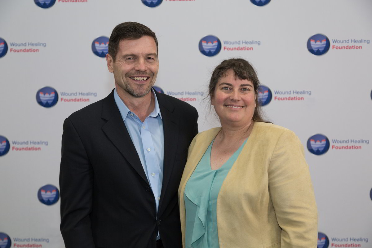 WHF Poloxamer Grant recipient David Sharp and WHF President Laura K. S. Parnell